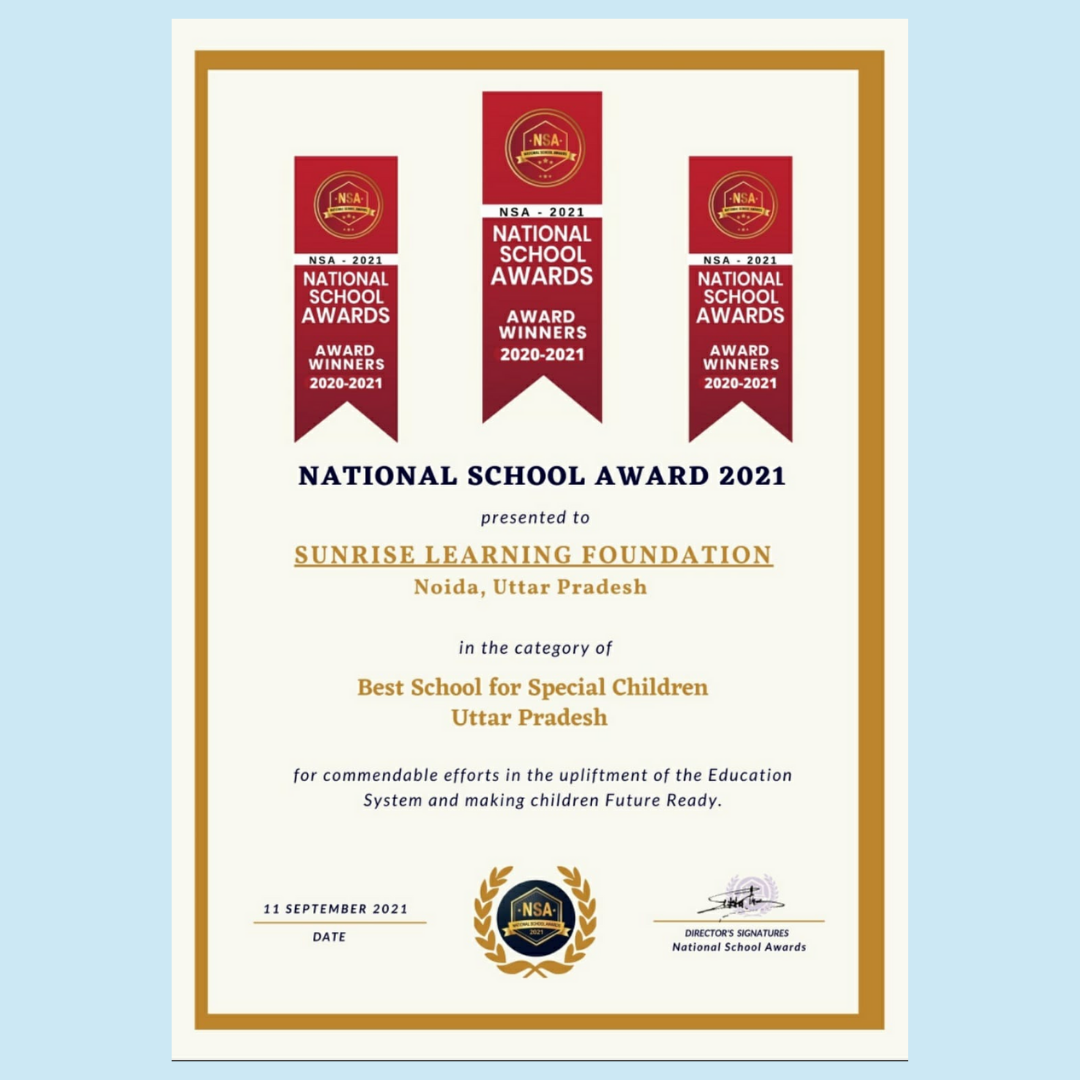 BEST SCHOOL FOR SPECIAL CHILDREN to sunrise learning